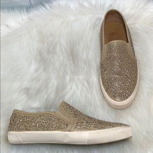 Aerin Marsden Tan Leather Slip Ons Size 9